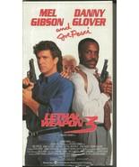 Lethal Weapon 3 VINTAGE VHS Cassette Mel Gibson Danny Glover Joe Pesci - $14.84
