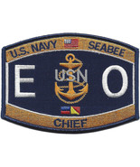 "4.5"" NAVY SEABEE CHIEF EO EQUIPMENT OPERATOR EMBROIDERED PATCH - $17.09"