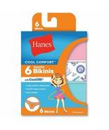 6-Pack Hanes Girls Cool Comfort Bikinis w/Cool Dri Panties - Assorted - ... - $15.19