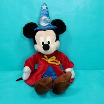 "Sorcerer Mickey Mouse Plush Disney Parks Stuffed Animal Fantasia Wizard 13"" Red - $17.81"