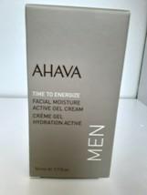 Ahava  For MEN Time To Energize Facial Moisture Active Gel Cream 1.7 Fl ... - $24.75