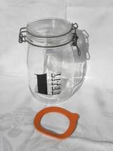 "Vintage Triomphe France ""1 LITER"" Glass Jar Canister w/Hinged Metal Bale... - $6.99"