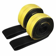 "JCHL Lift Sling Straps 10'x2"" 15,000 Pound Capacity 2-Pack Heavy Duty Lifting Sl"