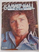 Autographed 1978 Sammy Hall Best To You Tab Song Book Greatest Hits Song... - $16.12