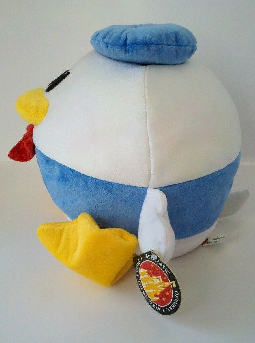 "Disney Parks Authentic DONALD DUCK Plush Stuffed Animal Ball Doll Toy 10"" w/ Tag"