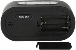 Plumeet Large Digital LCD Travel Alarm Clocks with Snooze and Night Light, Black image 3