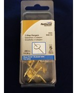 National Hardware V2534 N260-125 One-Step Hanger, 25 lb, Brass Finish Qty 5 - $1.44