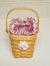 Longaberger Handwoven 1998 American Cancer Society Basket w/ Liner - $19.75