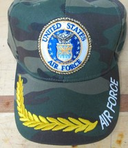Air Force Cap United States Camouflage Green Embroidery Design 100 % Acrylics  - $7.99