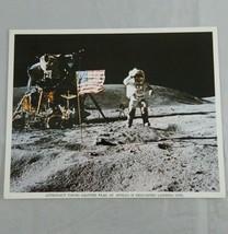 70's NASA Photo Astronaut Young Salutes Flag At Apollo 16 Descartes land... - $15.64
