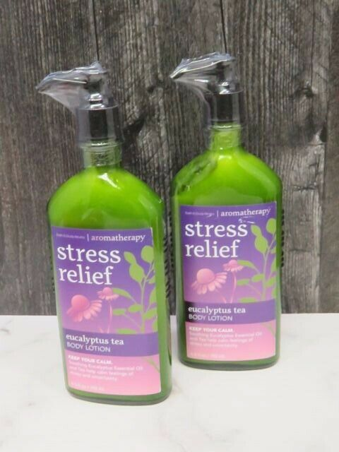 Primary image for 2 Bath & Body Works Aromatherapy Stress Relief Eucalyptus Tea Body Lotion