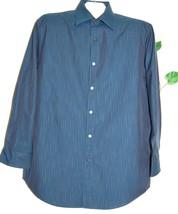 Joseph Abboud Men's Navy Gray Striped Blouse Shirt Size 16 /41 - €28,71 EUR