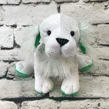Webkinz Ganz St. Pats Setter Plush White Green Irish Shamrock Stuffed An... - $14.84