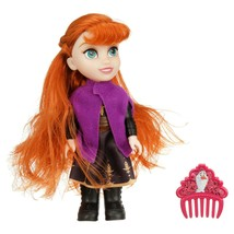 """Disney Frozen II 2 Petite 6"""" Adventure Anna Doll In Signature Outfit with Comb - $12.99"""