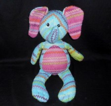 "14"" Mary Meyer Baby Knit Striped Elephant Pink & Blue Stuffed Animal Plush Toy - $32.73"