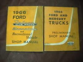 1966 Ford Falcon Club Wagon Econoline Shop Service Repair Manual Set FACTORY - $98.99
