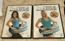 Set of 2 Workout DVDs The Firm Total Sculpt Abs Aerobics Weight Training... - $27.71