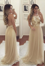 Sexy Backless Tulle Prom Dresses A Line  Women Party Gowns Girls dress  ... - $180.00
