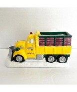 Christmas Valley City Works Vehicle Snow Plow Truck Village Christmas Ho... - $14.84