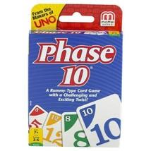 Phase 10 Rummy-Family Tarjeta Juego con un Giro Mattel Edades 7+ - $9.71