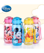 Eding bottle with straw cartoon minnie mickey lovely eco friendly with lid portable pc thumbtall