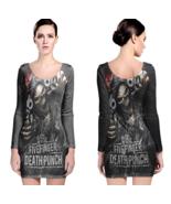 5 finger death punch Women Sexy Long Sleeve Bodycon  Dress - $24.80+
