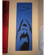 """JAWS  Pop Art PAINTING - New Original 4"""" X 12"""" - $37.95"""