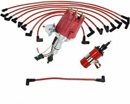 Ford SBF Pro Series R2R Distributor 289 302 5.0L V8 8mm Spark Plug Kit 45K Coil image 1