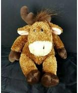 "Russ Berrie Brown Plush Twinkle Moose 9"" Stuffed Animal Bean Bag  - $10.88"