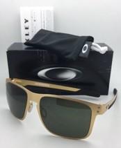 Neu Oakley Sonnenbrille Holbrook Metall OO4123-08 Satin Goldrahmen mit Grau - $165.49