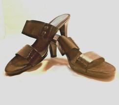 Aerology by Aerosoles Black Slip On Women's Sandals, Size 8 1/2 M - $25.62