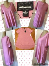 NEW! Wallpapher HighLo Top Sz Small Pink 42% Rayon 48% Polyester Retail ... - $7.91