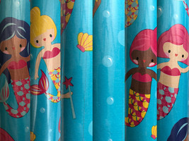 Blissful Mermaid Birthday Gift Wrapping Paper 22.5 Sq ft 1 Roll - $24.74