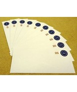 USPS Scott U615 25c Envelopes Round Design Stars & USA Lot of 10 Blue Red - $11.66