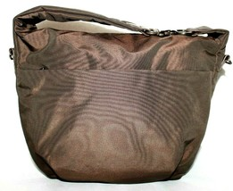 ❤️ MANDARINA DUCK Brown Nylon Leather Zip Handbag 9.5x2.5x11.5 GREAT! L@@K! - $23.74