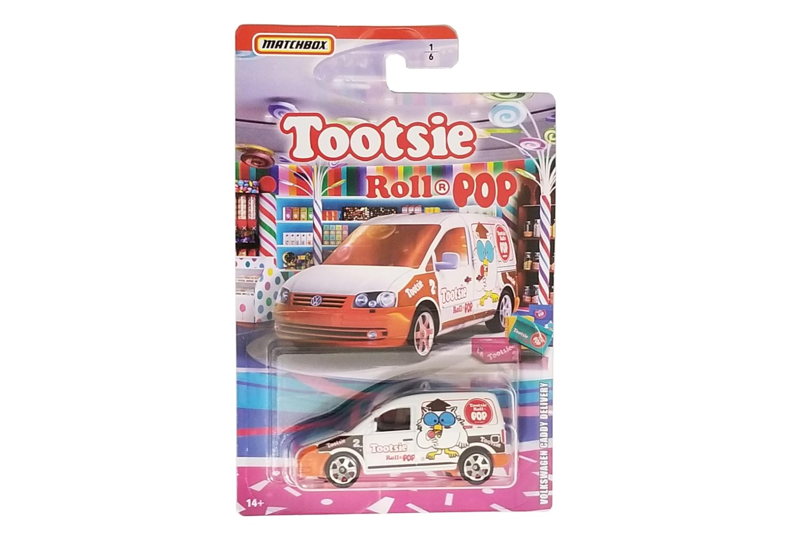 Matchbox 2020 Tootsie Roll Pop Volkswagen Caddy Delivery #1/6 GKP75-4B10