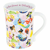 NWT Disney Parks Coffee Cup Mug Princess Live Your Dreams Destined For Greatness - $24.74