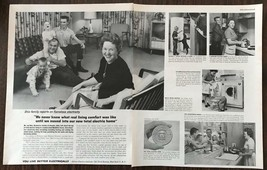 1963 Edison Electric Institute 2-pg PRINT AD Great 60s Family and Home D... - $11.01