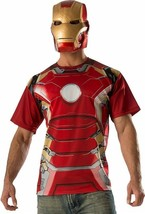 Large - Adult's Mens Avengers 2 Age Of Mark T-Shirt with Mask Costume Set - $18.99