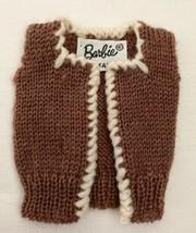 Vintage Barbie Sorority Meeting #937 Brown Sweater Vest  302-11 - $30.00