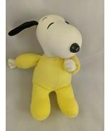 "Snoopy Baby Plush 8"" Thumb Sucker Yellow 1968 Hard Head Stuffed Animal Toy - $12.95"