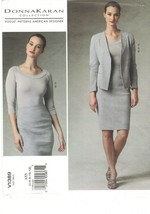 Vogue 1389 Donna Karan Jacket, Pencil Skirt, Knit Top Pattern Choose Siz... - $18.99