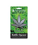 Stonerware Marijuana Leaf Die-Cut Image Metal Bottle Opener NEW UNUSED - $10.69