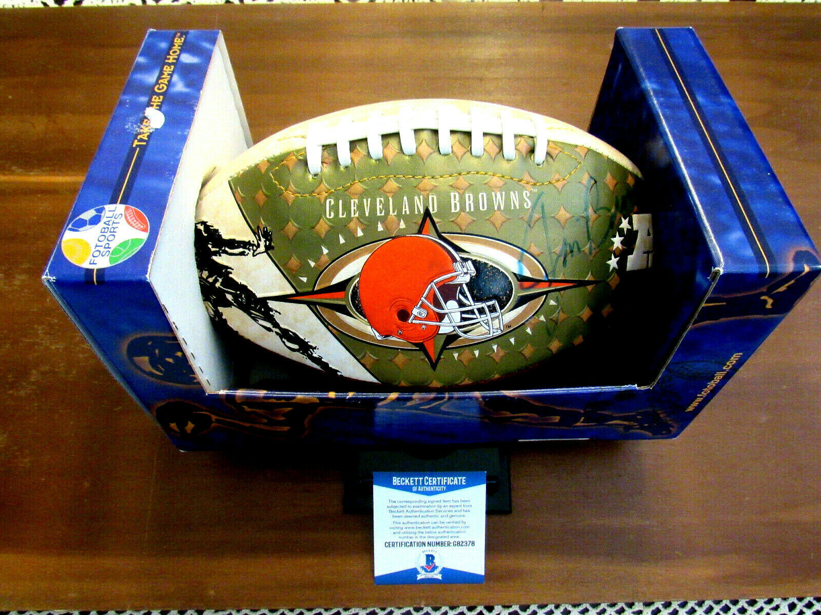 Primary image for JIM BROWN BROWNS HOF SIGNED AUTO LIMITED EDITION FOTOBALL FOOTBALL BECKETT