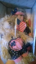 4th of July USA Duck House Herloom Dolls Doll comes with her Bear  - $95.00