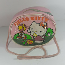 Vintage Hello Kitty Purse Sanrio 1985 Girls Handbag Pink Travel Case Rare Japan - $34.99