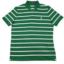 Polo Ralph Lauren Men's Pony Logo Striped Interlock Polo Shirt Green White S M L - $54.95