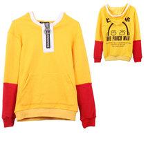 One Punch Man Saitama Cosplay Costume Yellow Long Sleeve Hoody Coat - $47.68