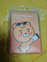 KAKAO FRIENDS PVC Clear Travel Passport Case Little Ryan SEALED - $20.46