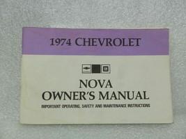 1974 NOVA Owners Manual 16028 - $18.76